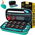Carry Case for Nintendo Switch Lite - Portable Travel Carry Case with Storage for Switch Lite Games & Accessories [Turquoise Blue Edition]