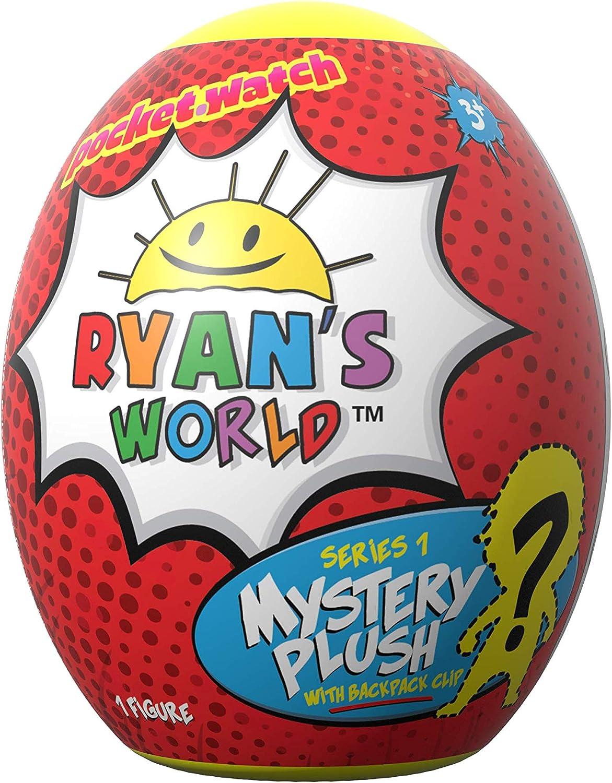 Ryan's World Surprise Egg Plush Clip - Includes One Random Plushie