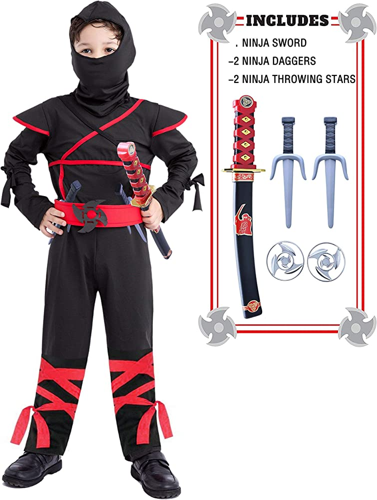 Halloween Costumes For Kids Boys 10 And Up.Ninja Costume For Boys 4t 12