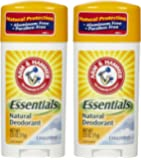 Arm & Hammer Essentials Natural Deodorant, Unscented - 2.5 oz - 2 pk