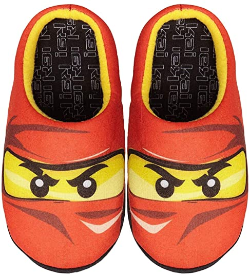 Lego Ninjago Red Ninja Kai Boys Slippers: Amazon.es: Zapatos ...