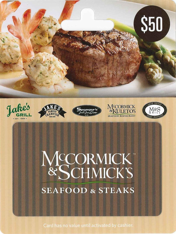 Amazon.com: McCormick & Schmick's $50: Gift Cards