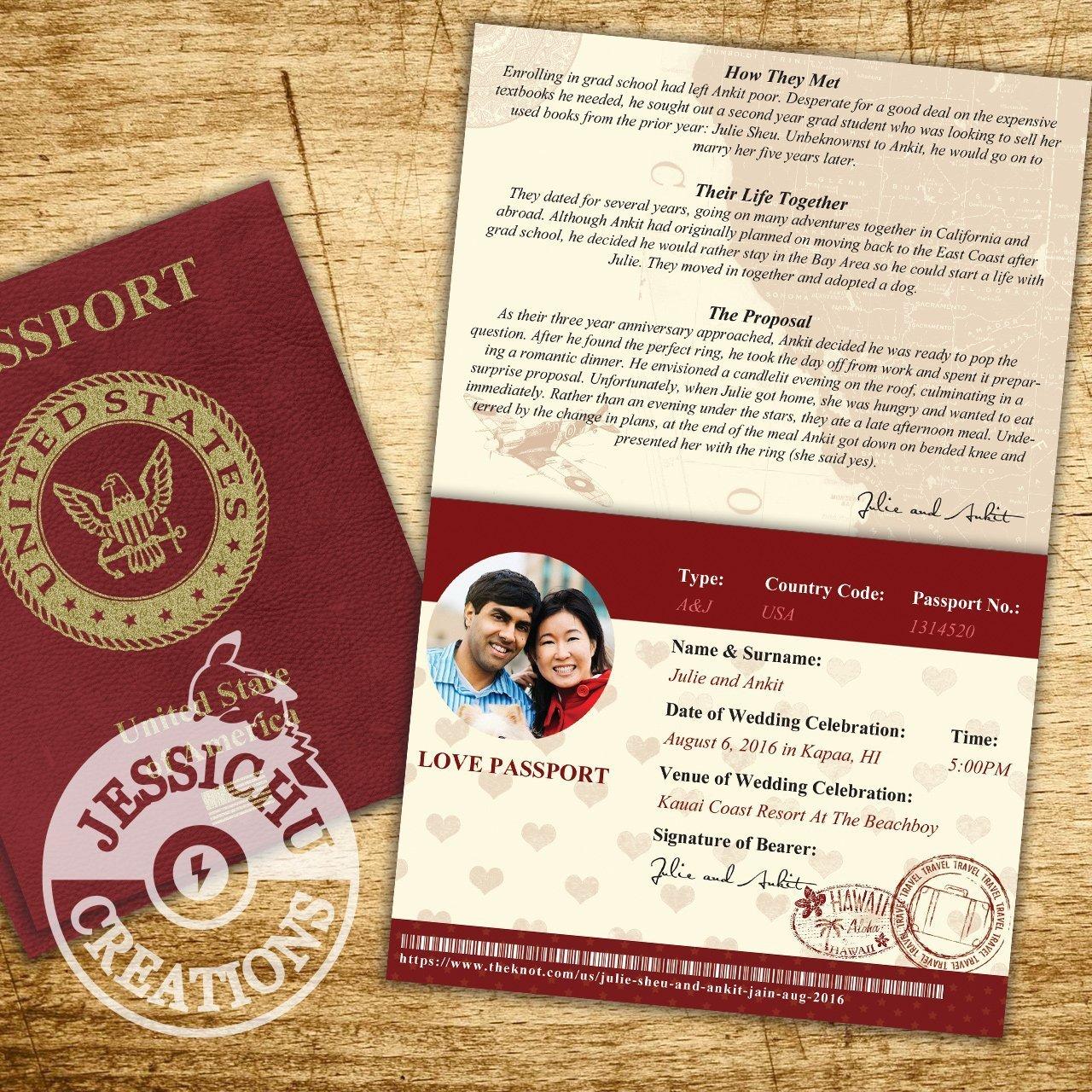 Amazon.com: Passport & Ticket Wedding Invitation, Programs, Save the ...