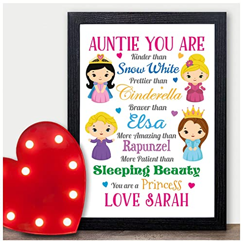 christmas gifts for auntie aunt aunty disney princess personalised xmas for her personalised with any - Disney Christmas Gifts