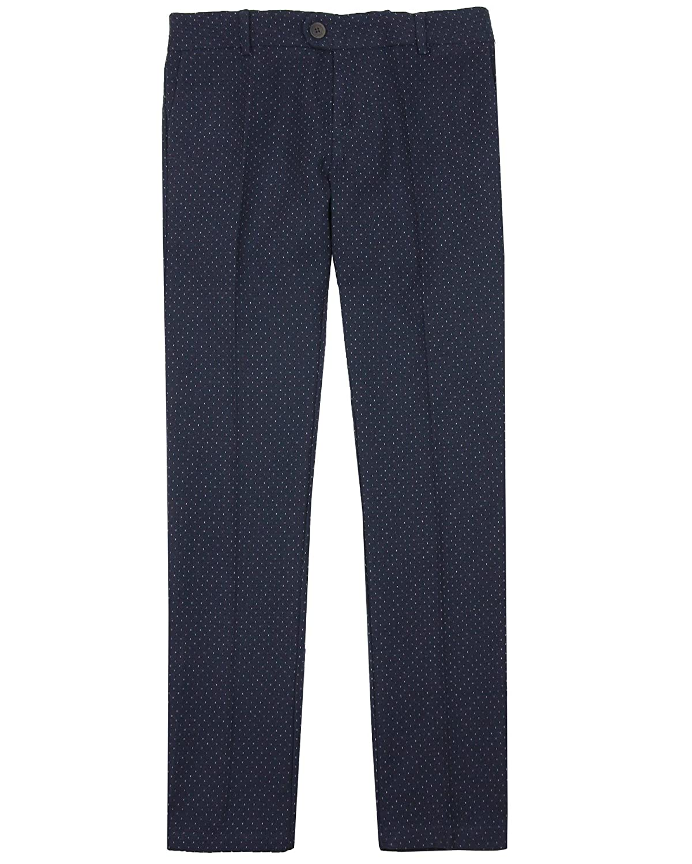 Sizes 8-16 Mayoral Junior Boys Dress Pants in Tiny Dot
