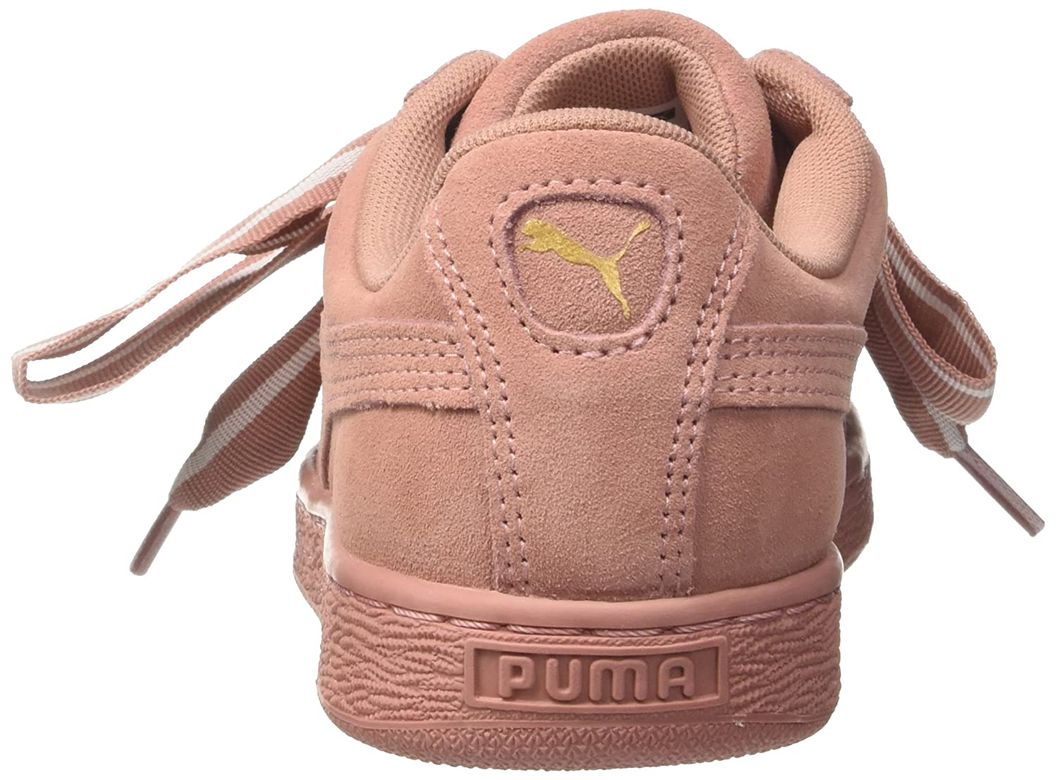 Amazon.com | PUMA Womens Suede Heart Satin II Trainers, Brown (Cameo Brown-Cameo Brown 03), 5.5 UK | Fashion Sneakers
