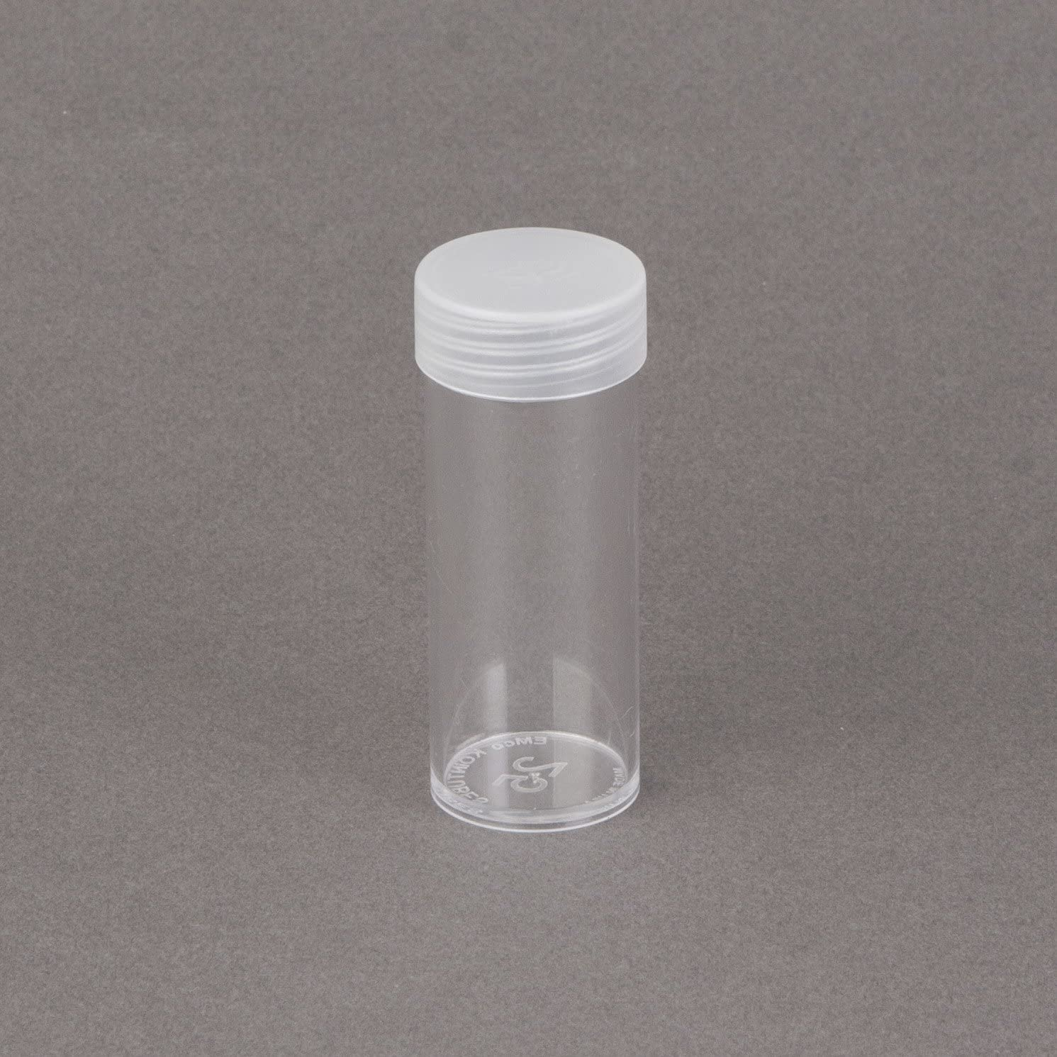 Quarter 5 Edgar Marcus Brand Round Clear Plastic Size Coin Storage Tube Holders with Screw on Lid