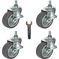 Caster Wheels, Stem Casters Set of 4, 3 Inch 3/8
