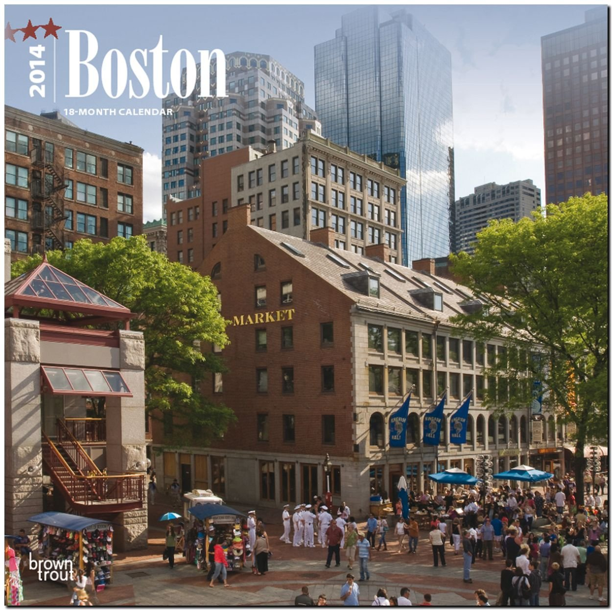 Boston 2014: Original BrownTrout-Kalender [Mehrsprachig] [Kalender]