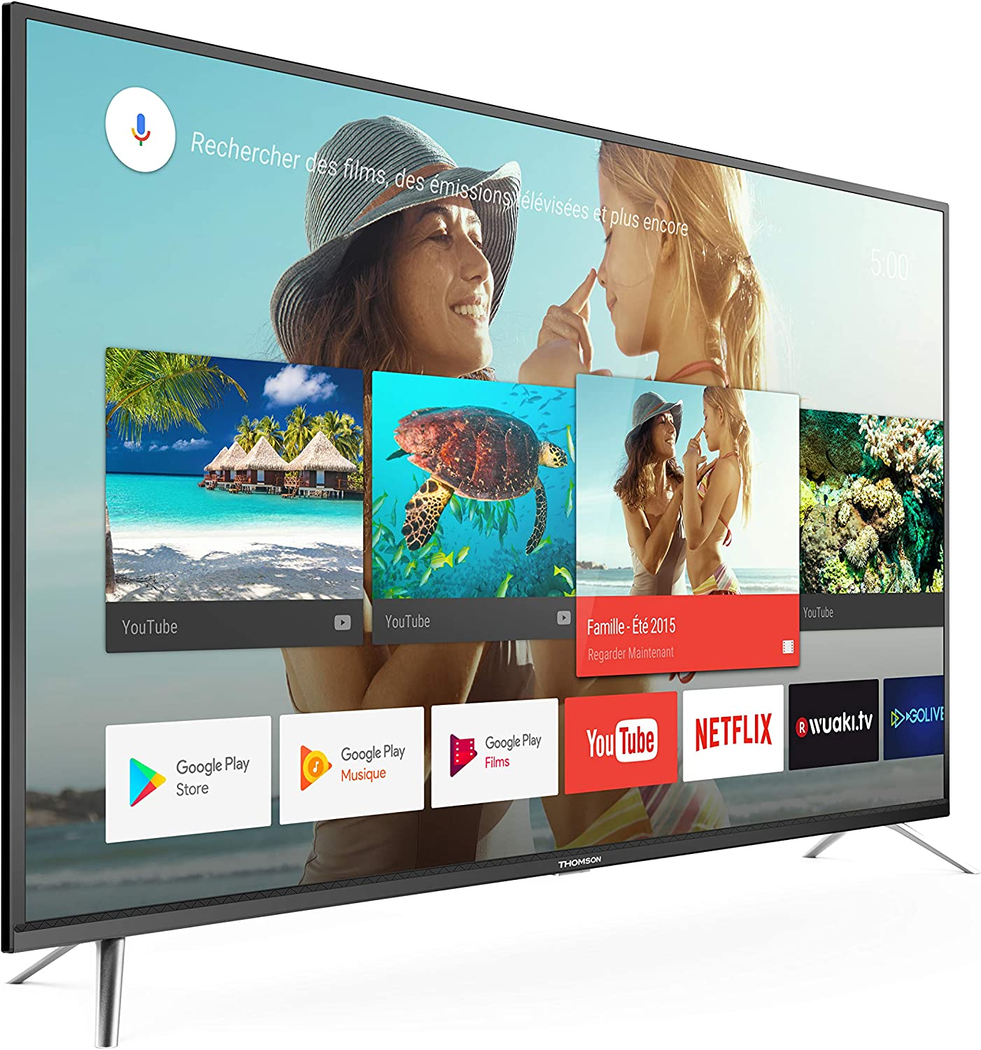 DC Thomson - TV Led 65 - Thomson 65Ud6406, Ultra HD 4K HDR, Android TV 7.0, Panel 10 bits: Amazon.es: Electrónica