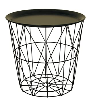 Modern black small wire side table metal coffee end side table with modern black small wire side table metal coffee end side table with lift off tray keyboard keysfo Choice Image