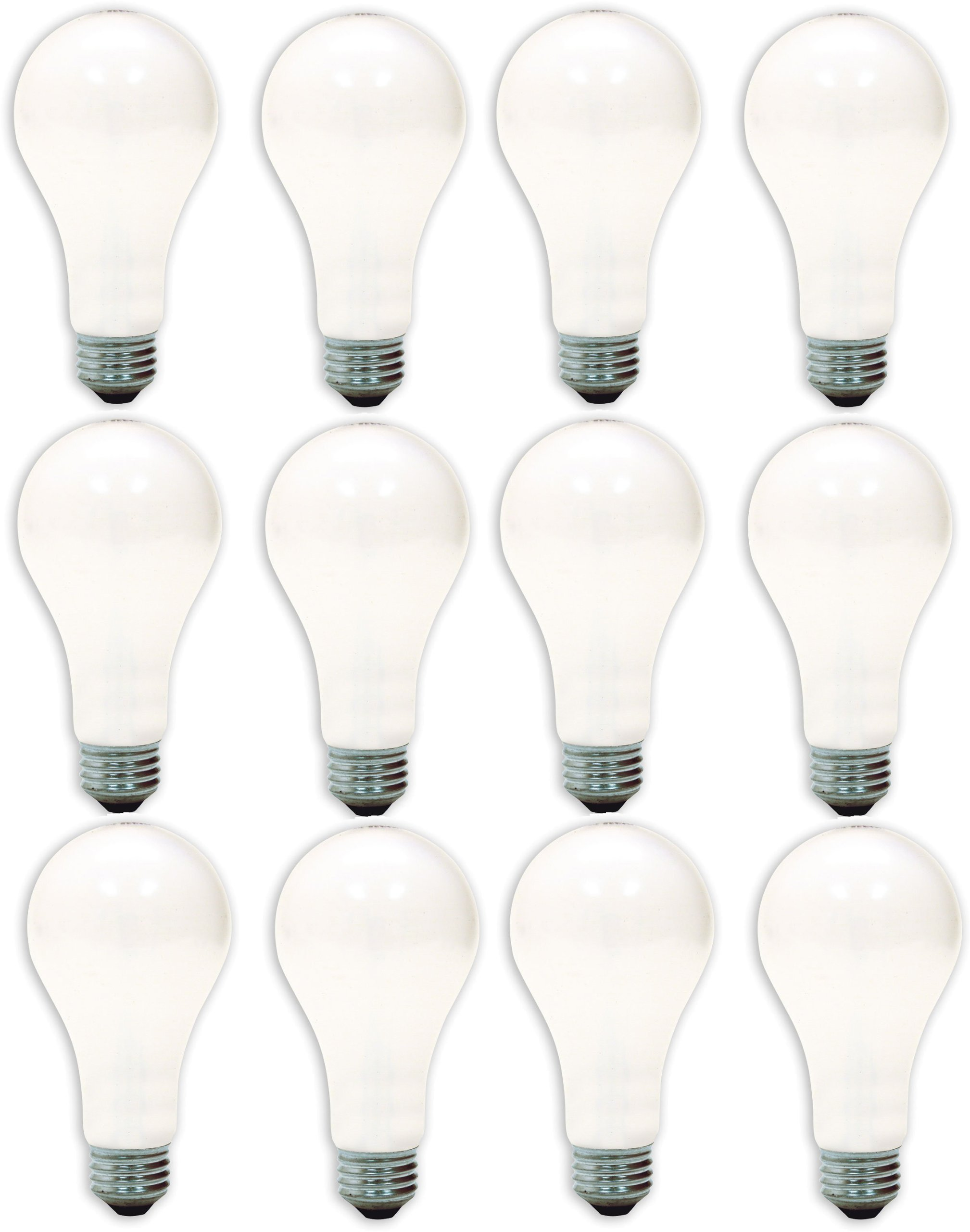 GE Lighting 97482-12 50/200/250-Watt A21 3-Way Soft White Light Bulb, 12-Pack