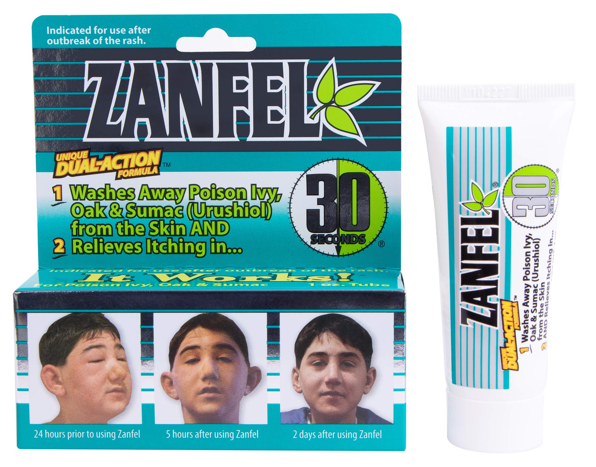 ZANFEL Poison Ivy, Oak & Sumac Wash - Topical Solution for The Reaction Caused by Exposure to Poison Ivy, Poison Oak, and Sumac (1 Fluid Ounce / 29 Milliliter) by Zanfel