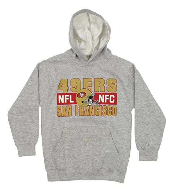 San Francisco 49ers NFL Youth Tee Shirt and Hooded Sweatshirt Combo (Small  (8) d6270099c