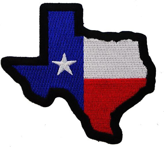 Mapa Texas Estado Bandera colores hierro en parche bordado ...