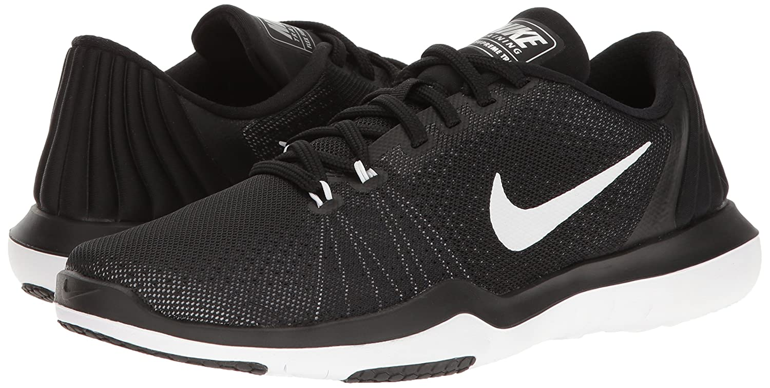 NIKE Women's Flex Supreme Shoe TR 5 Cross Training Shoe Supreme B01FVNC7A6 6 B(M) US|Black/White/Pure Platinum cfb26f