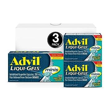Amazon Com Advil Liqui Gels Minis 160 Count 20 Count 20 Count