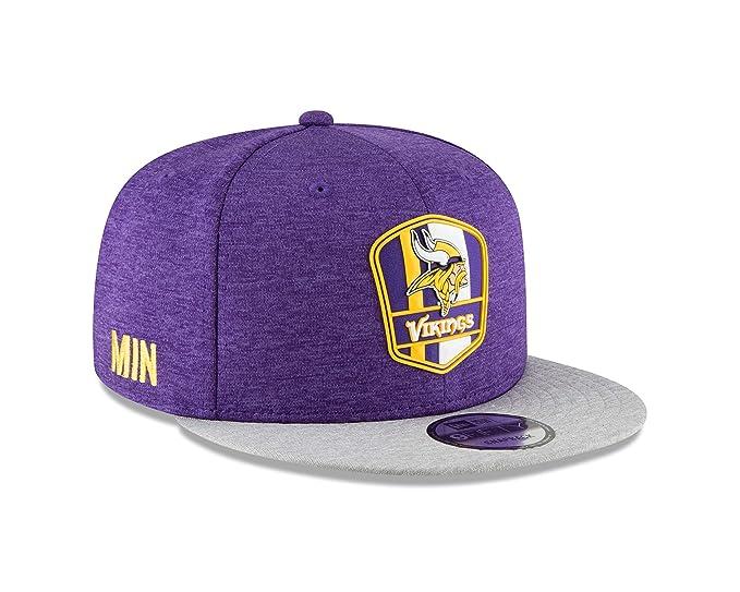 wholesale dealer 2c676 228c5 New Era Minnesota Vikings 2018 NFL Sideline Road Official 9FIFTY Snapback  Hat