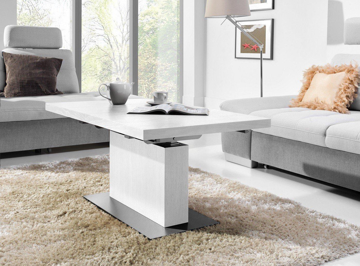 Design Couchtisch Tisch Mn Wei Seidenmatt U Ausziehbar Gnstig Kaufen With  Couchtisch Hochglanz Wei Gnstig With Sofa Wei Gnstig
