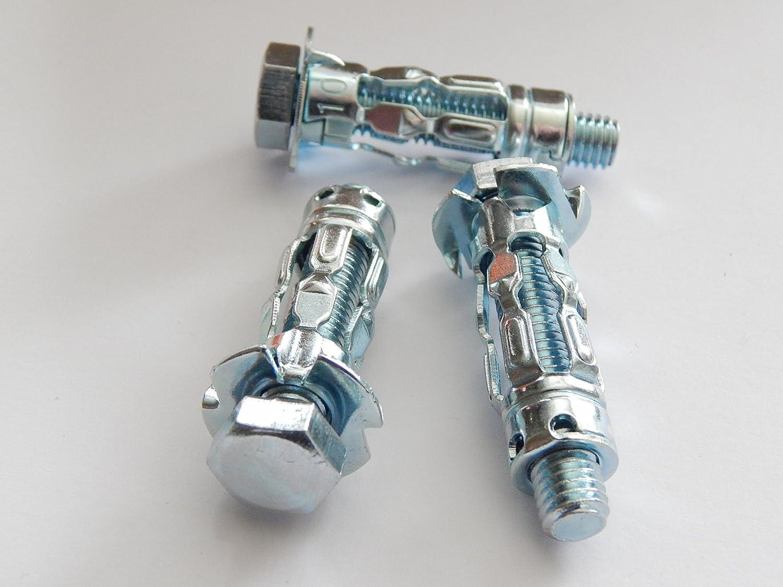 32 10 St/ück Mungo Metall Hohlraumd/übel M8x66 mit Schraube Metallspreizd/übel Gipskartond/übel MHD-SM 8x66