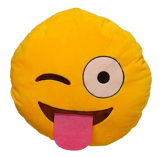 Poking lengua teléfono icono Emoji cojín relleno: Amazon.es: Hogar