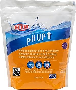 HTH 67041 pH Up Swimming Pool Chemical Balancer, 4 lbs