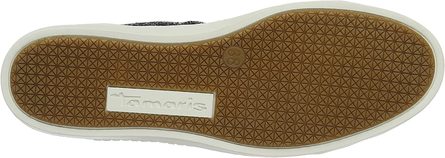 Tamaris 23606, Baskets Basses Femme Bleu Navy Glam Comb 819