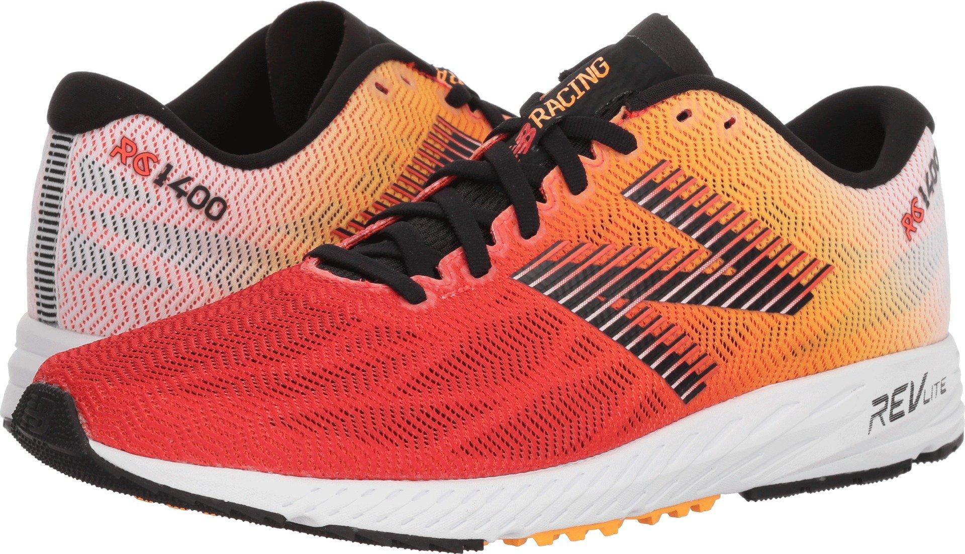the latest 1d48b f413f New Balance Men's 1400v6 Running Shoe, White/Orange, 9 D US