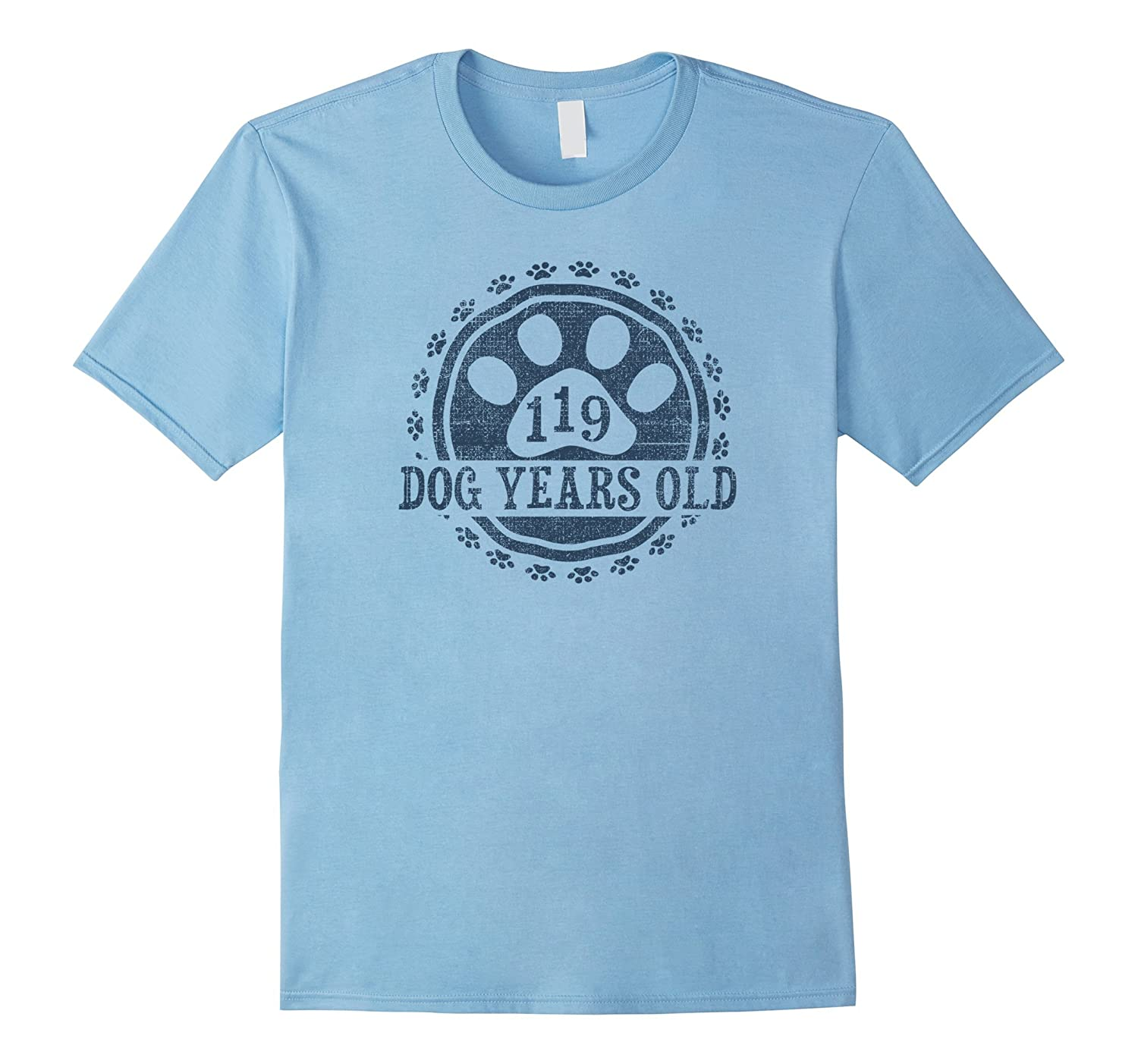 119 Dog Years Old 17 Human Yrs Old 17th Birthday Gift Shirt-PL