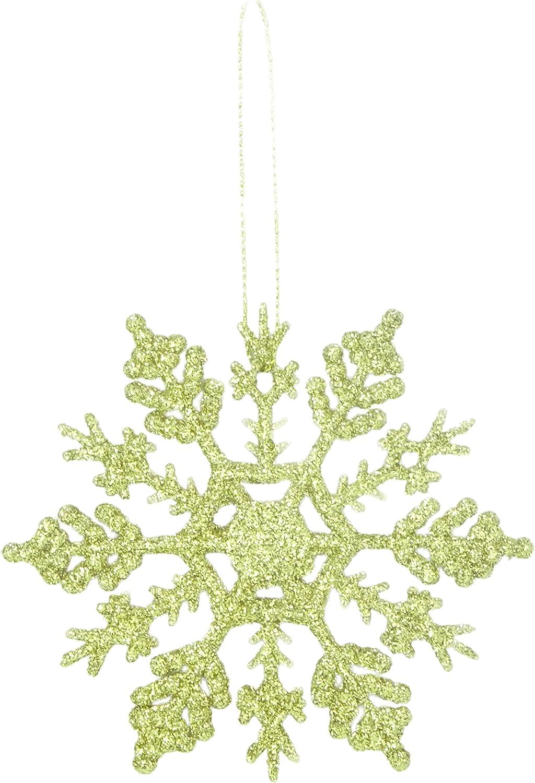 D/écorations de No/ël Rouge Christmas Concepts Lot de 12 /à 10cm de d/écorations /à Suspendre pour Flocon de Neige Scintillantes