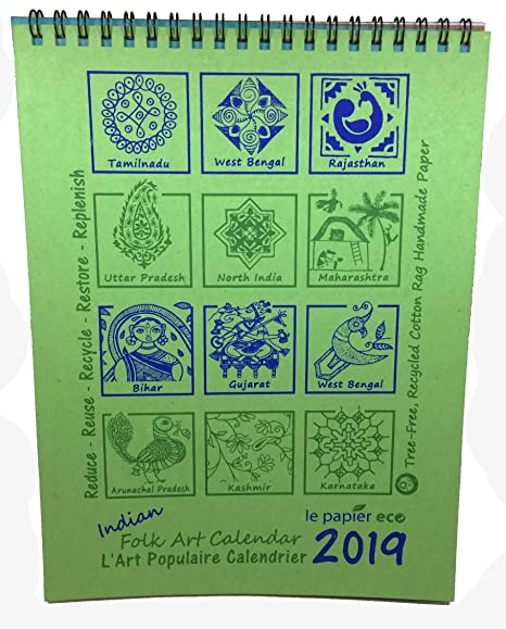 Calendrier Vip 2019.Creates Designs Indian Folk Art Calendar 2019 From