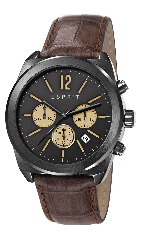Esprit Herren-Armbanduhr Chronograph Quarz Leder ES107571003