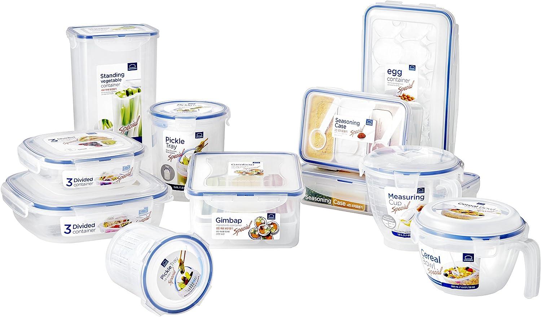 con forma redonda ideal para cebollas Lock /& Lock transparente herm/ético 300 gr//1,27 taza Almacenamiento para alimentos 11.9 x 11.9 x 13.2 cm pl/ástico