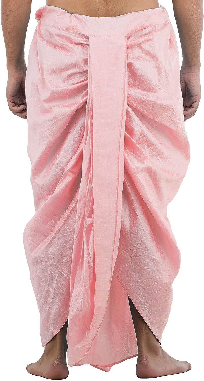 Maenner-Dhoti-Dupion-Silk-Plain-handgefertigt-fuer-Pooja-Casual-Hochzeit-Wear Indexbild 61