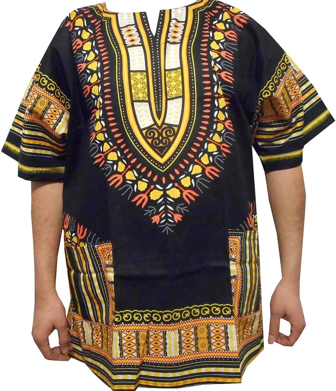 2X Decora Apparel Boys Girls Dashiki Shirts S M L XL African Traditional Hippie Tribal Men Women T Shirt 1X 3X