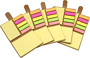 """Tueascallk Combination Sticky Notes, Pop-up Self-Adhesive Notes, Self Sticky Notes, 3.2"""" x 4.1"""", 200 Sheets/Pack, 5 Packs"""