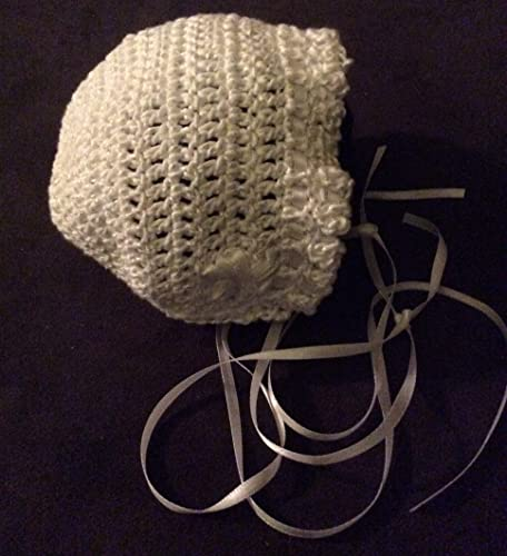 Image Unavailable. Image not available for. Color  Baby Bonnet crocheted ... cf8997913e5