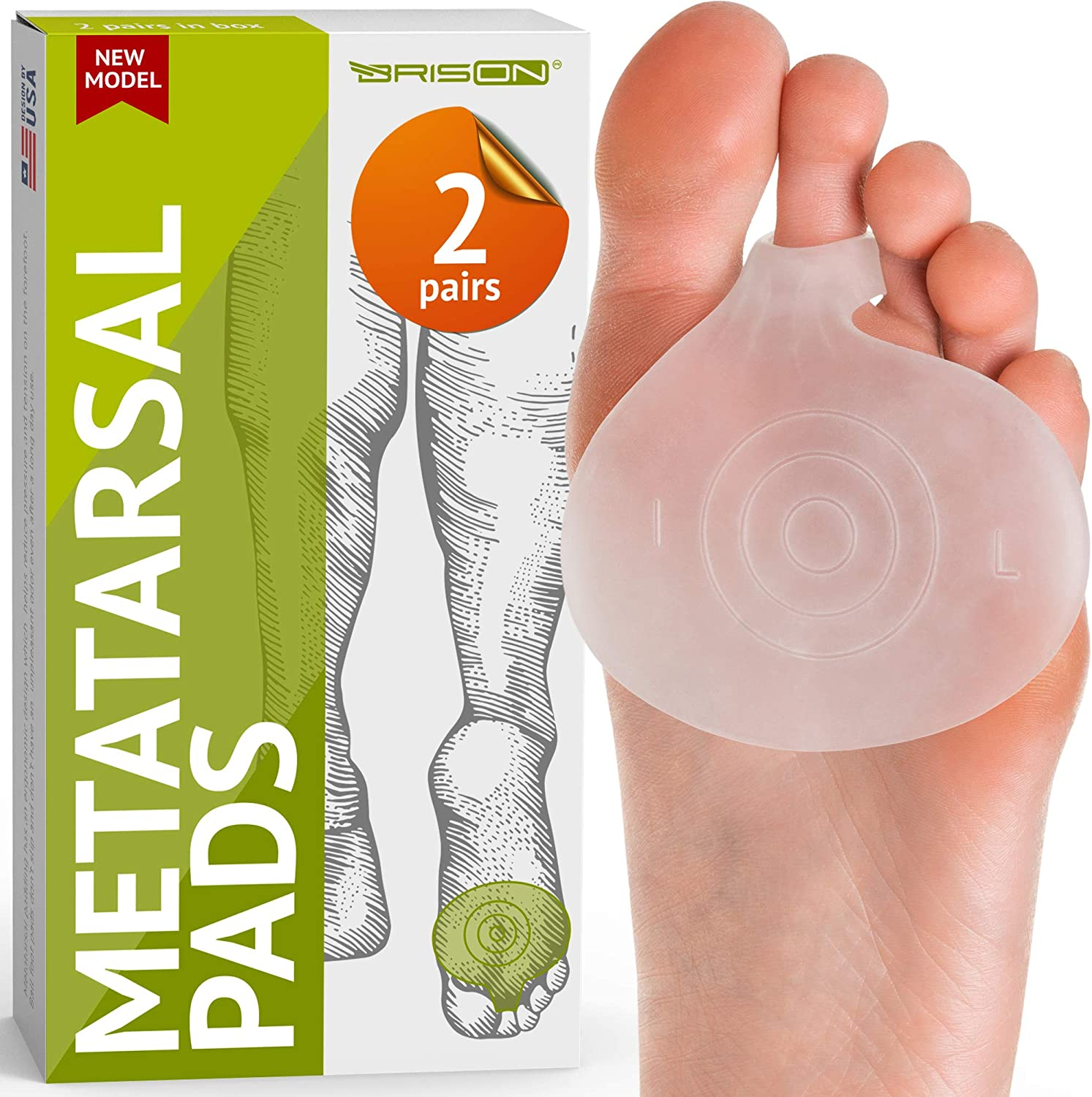 Metatarsal pads ball of foot cushions by BRISON