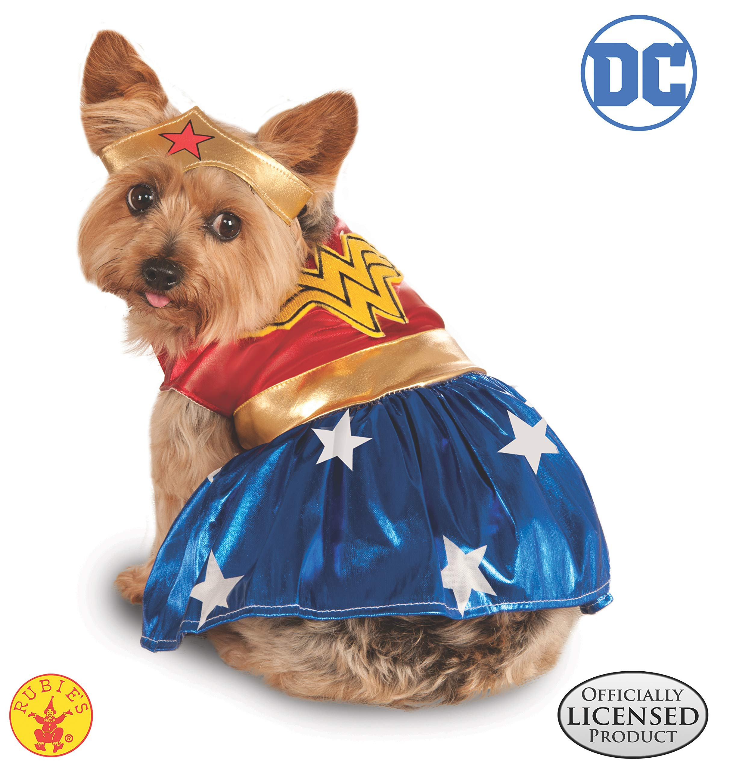DC Comics Pet Costume, Medium, Wonder Woman by Rubie's