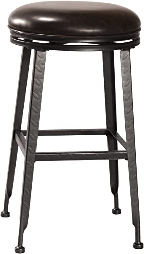 Hillsdale Furniture Hale Swivel Bar Stool, Black