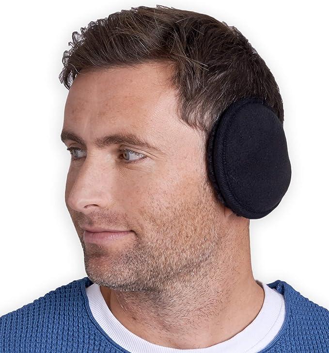 Winter Earmuffs For Men Foldable Ear Warmers British Style Plaid Plush Ear Muff
