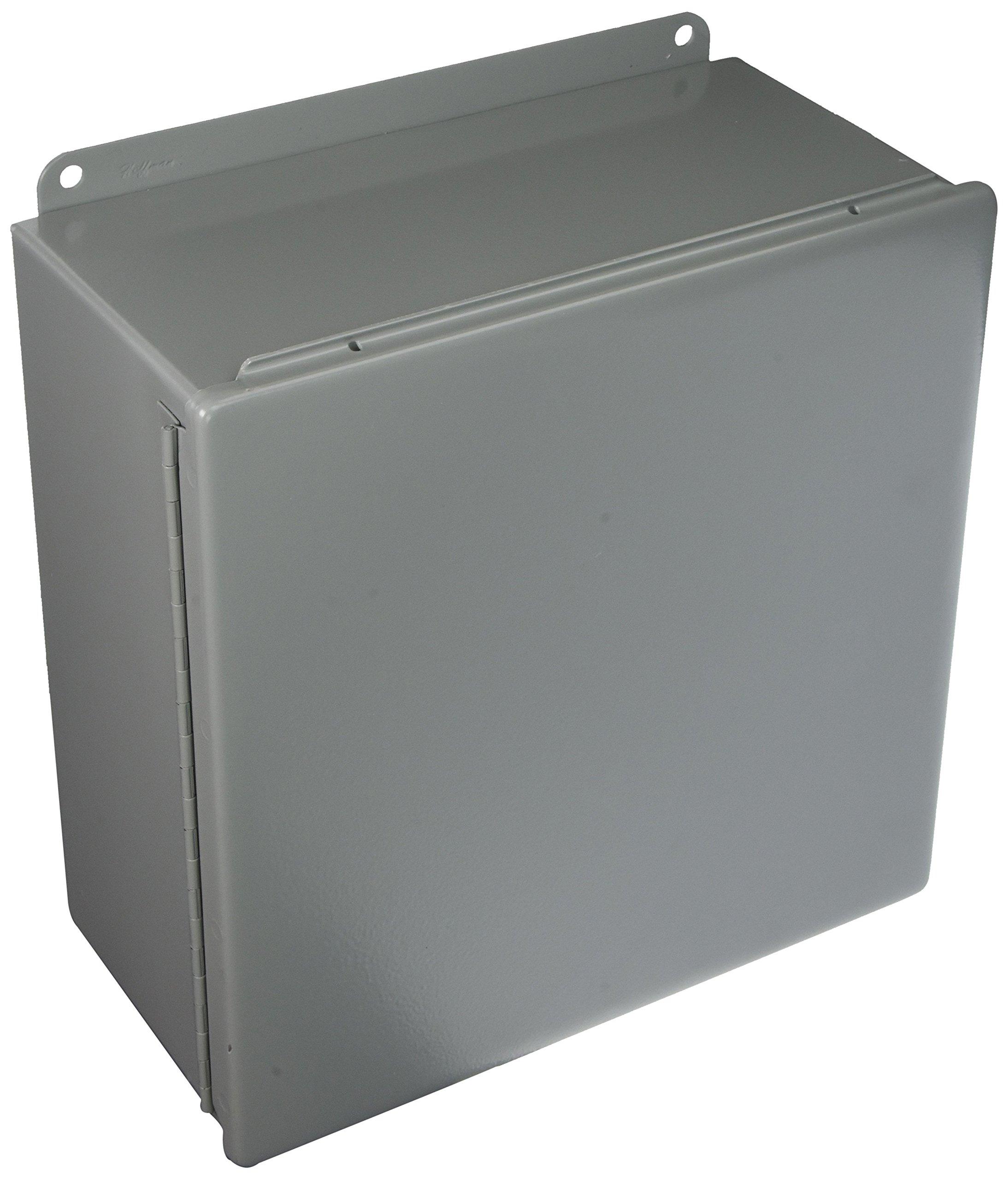 Hoffman A1212CH J Box, NEMA 12, Hinged Cover, Steel, 12.00'' x 12.00'' x 6.00'', Gray