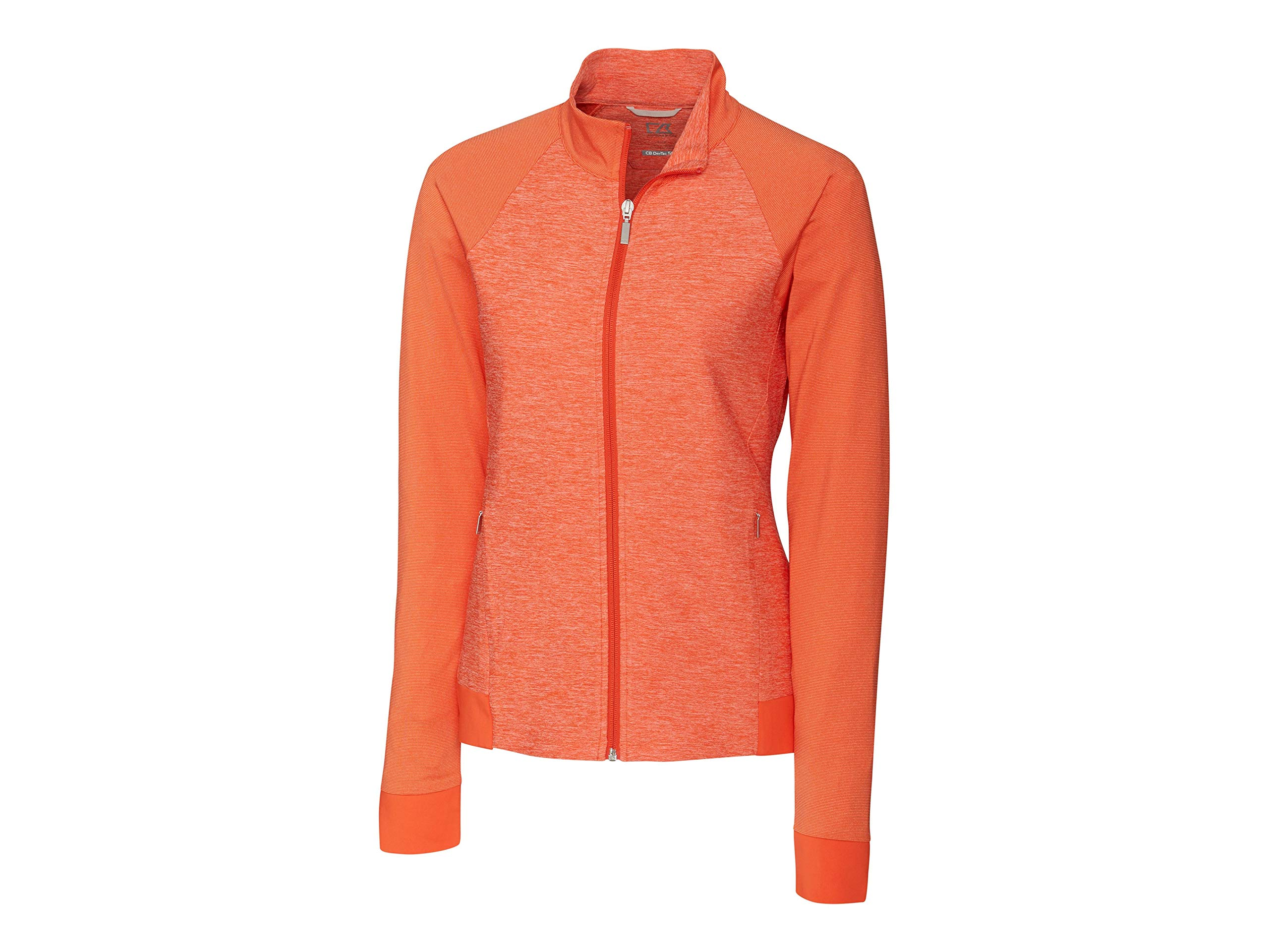 Cutter & Buck LCK08688 Women's L/S Lena Full Zip Jacket, College Orange - XS