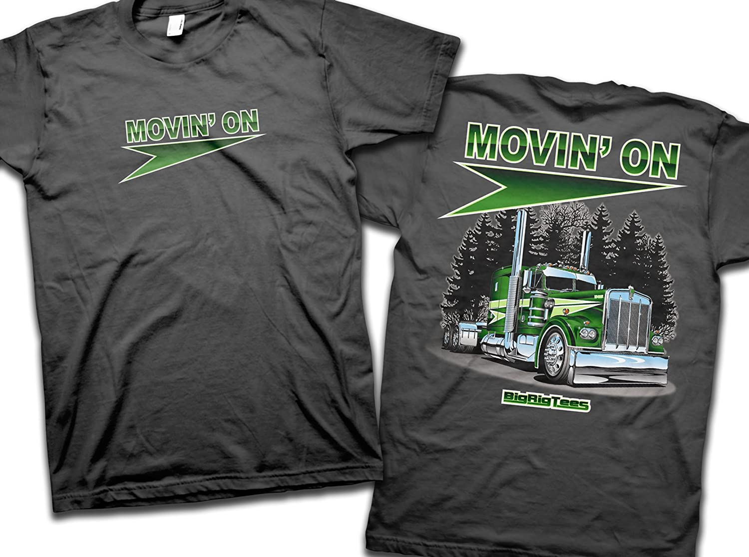 Big Rig Tees 'Movin' On' T-Shirt (Medium) Bigrigtees MOM