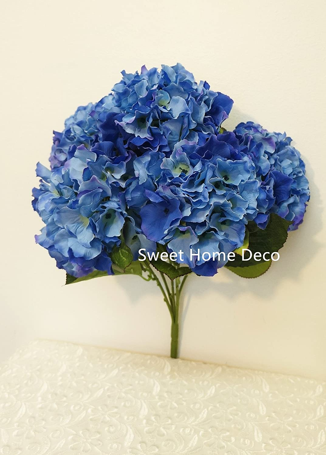 Amazon sweet home deco 18 super soft silk hydrangea amazon sweet home deco 18 super soft silk hydrangea artificial flower bouquet 5 stem 5mop heads with no potcenterpieces wedding decoration dhlflorist Image collections