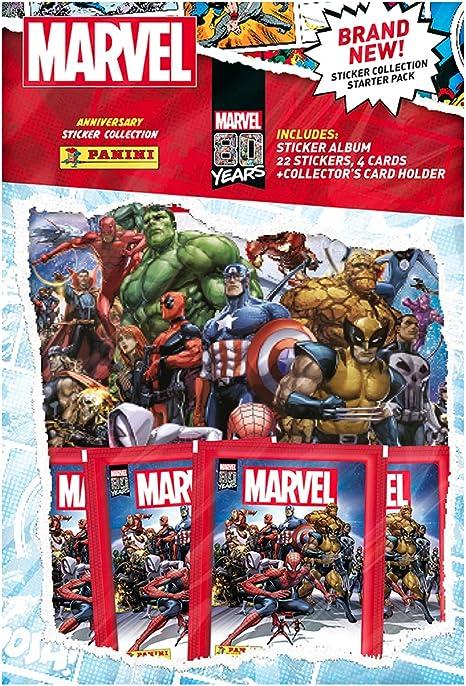 Panini- Marvel 80 años calcomanía Starter Pack (MVLSTSP): Amazon ...
