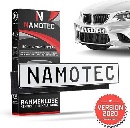 Soporte para matrícula de coche de Namotec®, sin marco, sin tornillos, con velcro, para matrícula, soporte para matrícula: Amazon.es: Coche y moto