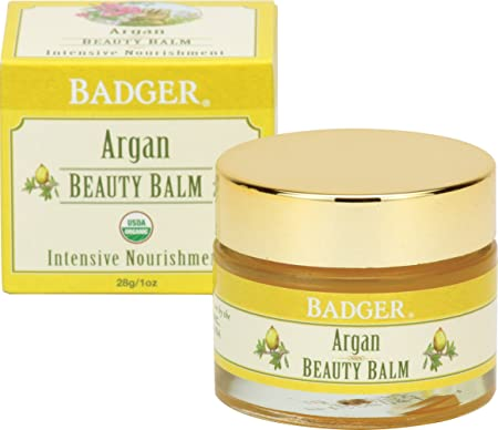 Badger Argan Beauty Balm – 1 oz Glass Jar