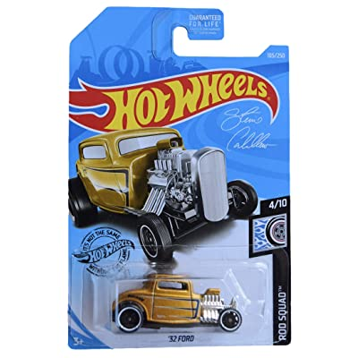 Hot Wheels Rod Squad Series 4/10 '32 Coupe 105/250, Gold: Toys & Games
