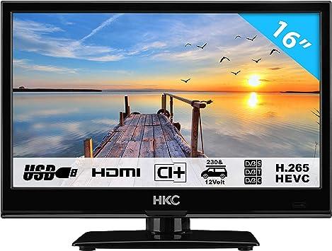 HKC 16M4: Televisor LED de 39,6 cm (16 Pulgadas) (HD-Ready, Triple ...